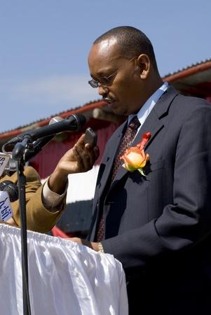 Abdulaziz Mohomed Parlando al 20 ° Giornata Mondiale Aids in Fitche, Etiopia