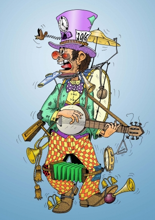 band instruments: One man band