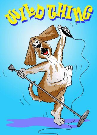 Rock star dog Stock Vector - 16872587