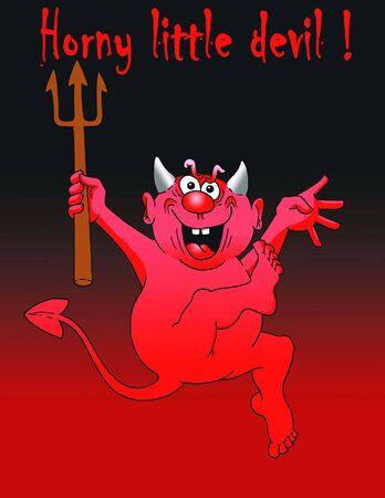 horny: Horny little Devil Illustration