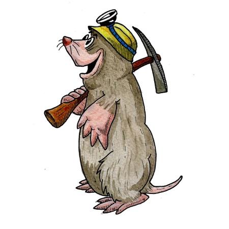 mole: Mole Illustration