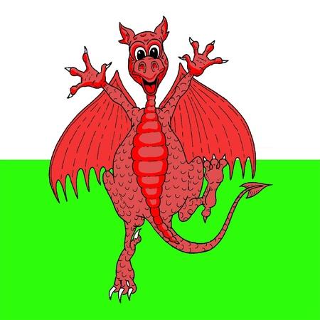 cymru: Dancing Welsh dragon