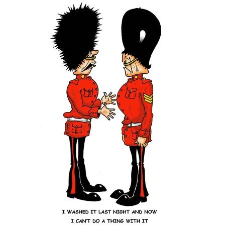 guardsman: Guardsman s busby Illustration