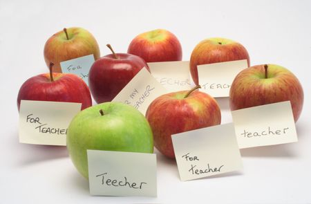 A lot of apples for the teacher.