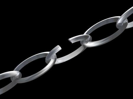 broken link: Una catena con un link non funzionante