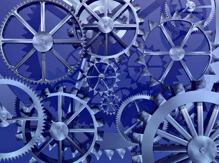 Gears and cogs make an abstract background