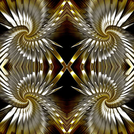 A seamless tessellating metallic background. This background will repeat either vertically or horizontally Stock Photo - 932858