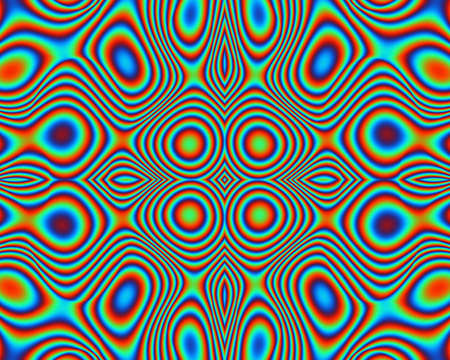 whorls: A brilliant multicolored background of loops and whorls in rainbow colors