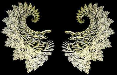 angel de la guarda: Delicada filigrana alas de �ngel de la guarda para que pueda a�adir a su modelo.  Foto de archivo