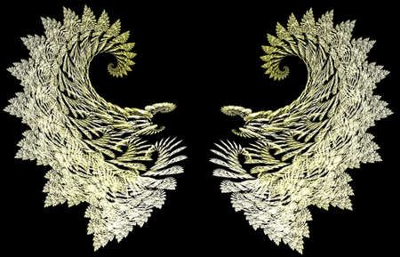 Delicate filigree guardian angel wings for you to add to your model.