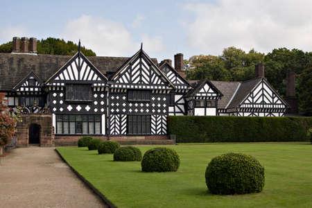tudor: A timbered Tudor manor house and garden
