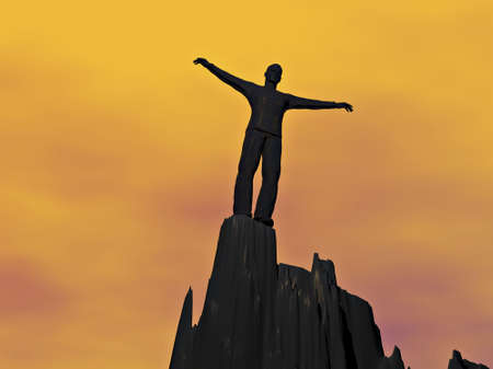 Standing alone at the top of the precipice