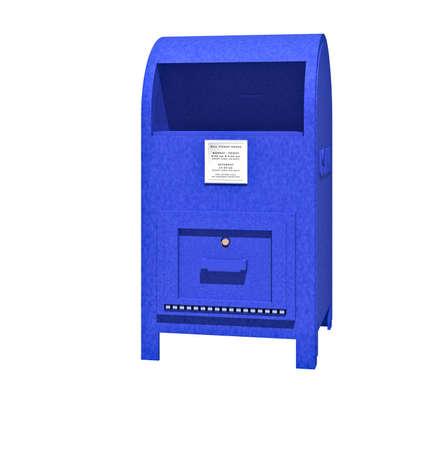 A blue US mailbox Stock Photo - 5067202