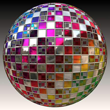 reflection in mirror: A sparkling glitter ball or disco ball