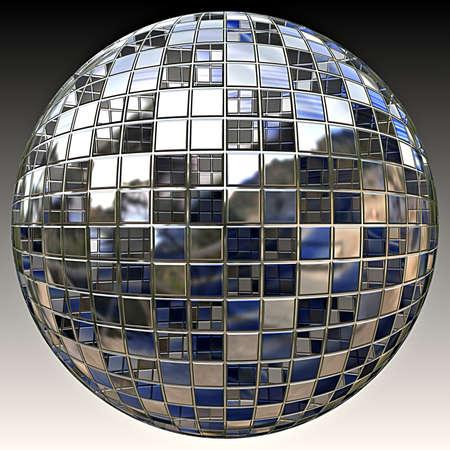 disco dancing: A sparkling glitter ball or disco ball