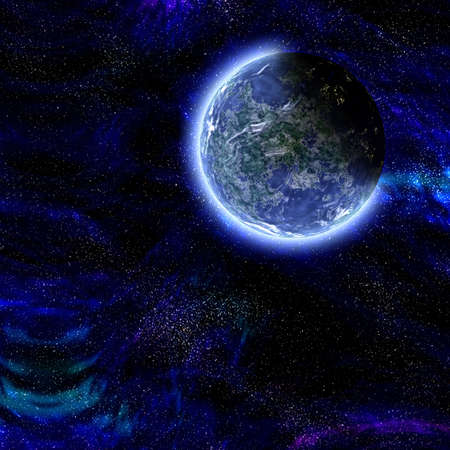An earth like planet in outer space