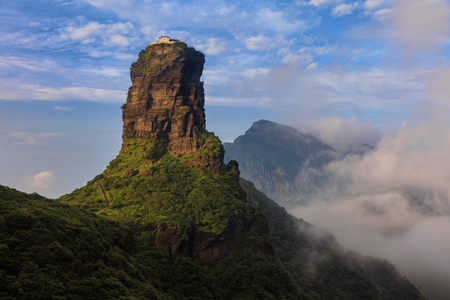 Fanjingshan, Mount Fanjing Nature Reserve - Sacred Mountain of Chinese Buddhism in Guizhou Province, China. UNESCO World Heritage List - China National Parks, Famous Mountain/National Attraction.