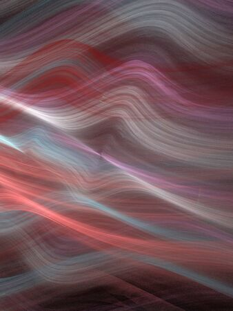 Abstract Design, Digital Illustration - Multicolored Rays of Light, Warped Parallel Lines with Alternating Colors, Bands of Color, Soft Gradients, colored gradient.