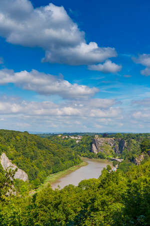 View of Avon Gorge and the River Avon, Bristol, England, UK. 스톡 콘텐츠