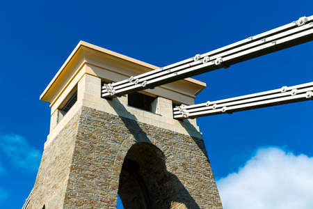 Closeup of Detail of Clifton Suspension Bridge, Bristol 스톡 콘텐츠