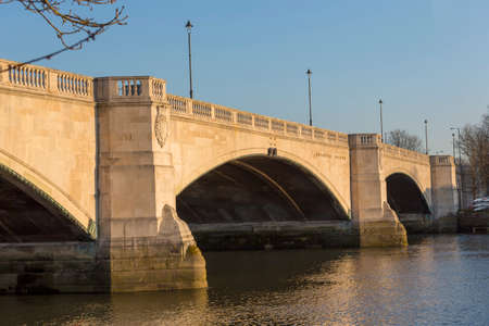 View of Chiswick Bridge, over the River Thames, London, UK