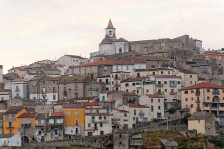 potenza: Basilicata (Potenza) - Oppido Lucano, ancient town Stock Photo