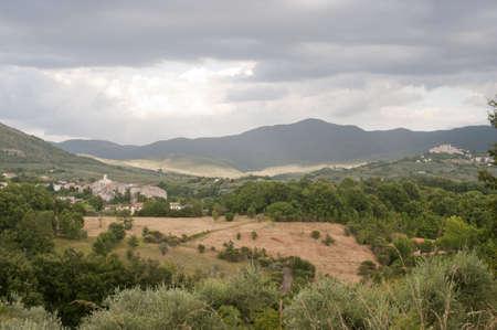 rieti: Landscape in Lazio (Italy) near Rieti at summer Stock Photo