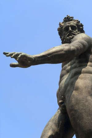 Bologna (Emilia-Romagna, Italy) Neptunes fountain (Gianbologna, 1565), detail photo