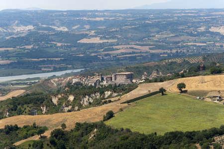 terni day: Panorama of Alviano (Terni, Umbria, Italy), landscape at summer Stock Photo