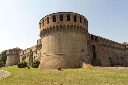 14th: Imola (Bologna, Emilia-Romagna, Italy) - Medieval castle, Rocca Sforzesca (14th century) Stock Photo