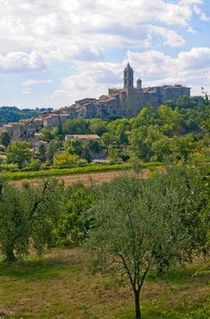terni: Baschi (Terni, Umbria, Italy) - Old town and olive trees