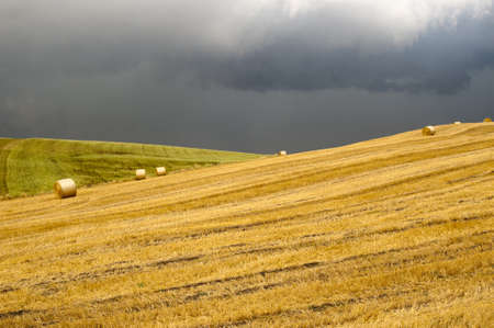 Landscape in Campania (Italy) near Benevento: a storm is coming photo