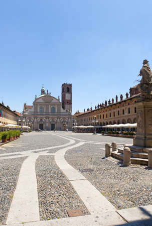 Vigevano (Pavia, Lombardy, Italy) - Piazza Ducale, historic square of the Renaissance era