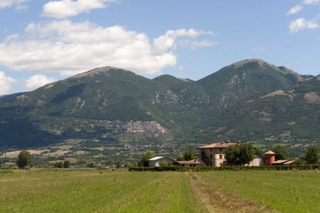rieti: Landscape between Lazio and Umbria at summer Stock Photo