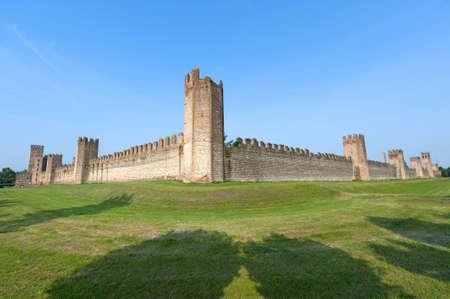 veneto: Montagnana (Padova, Veneto, italy) - Medieval walls Stock Photo