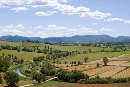 terni day: Landscape between Lazio and Umbria at summer Stock Photo