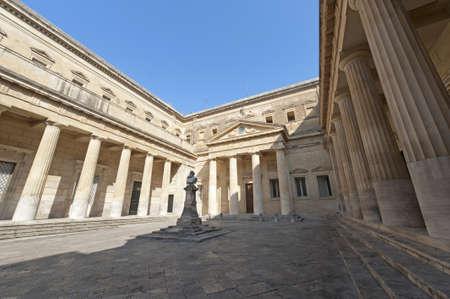 portico: Lecce (Puglia, Italy): The Carducci square (statue of Giosuè Carducci, circa 1910)