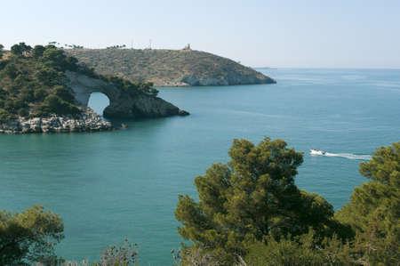 The coast of Gargano (Puglia, Italy) at summer photo