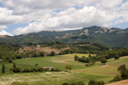Landscape between Lazio and Umbria at summer Stock Photo - 10679395
