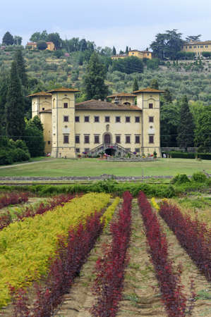 Ancient villa near Pistoia (Tuscany, Italy) at summer
