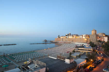 molise: Termoli (Campobasso, Molise, Italy) - The beach at evening