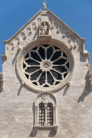 12th century: Ruvo (Bari, Puglia, Italy): Old cathedral in Romanesque style, rose window