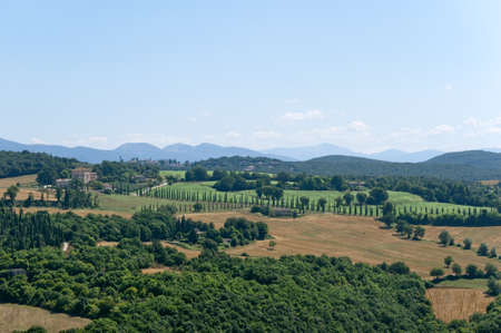 terni: Landscape from Amelia (Terni, Umbria, Italy) Stock Photo