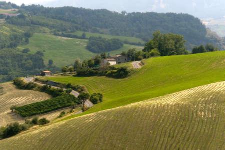 Landscape in Emilia-Romagna (Italy) at summer