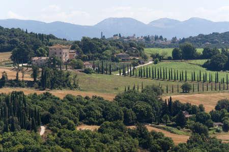 terni day: Landscape from Amelia (Terni, Umbria, Italy) Stock Photo