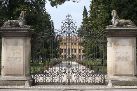 Sovizzo (Vicenza, Veneto, Italy), Villa Curti and the english garden (1488) photo