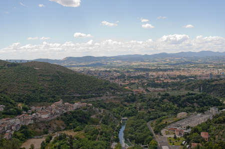 terni day: Panorama of Terni (Umbria, Italy) Stock Photo
