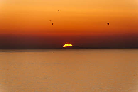 foggia: Sunset over the sea at Rodi Garganico (Foggia, Puglia, Italy)