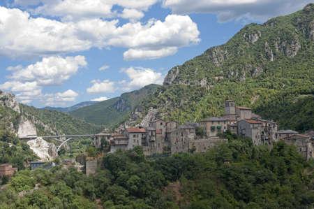 terni day: Old village near Terni (Umbria, Italy) Stock Photo