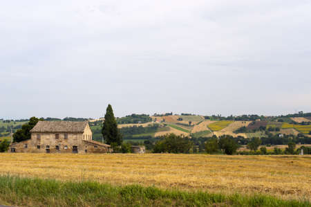 urbino: Marches (Italy) - Landscape at summer, old country house Editorial